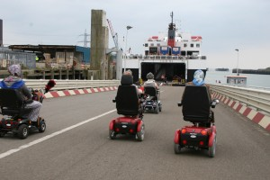 Steam Packet Ferry, Mobility Scooters