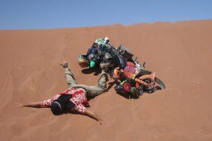 moped dune crash